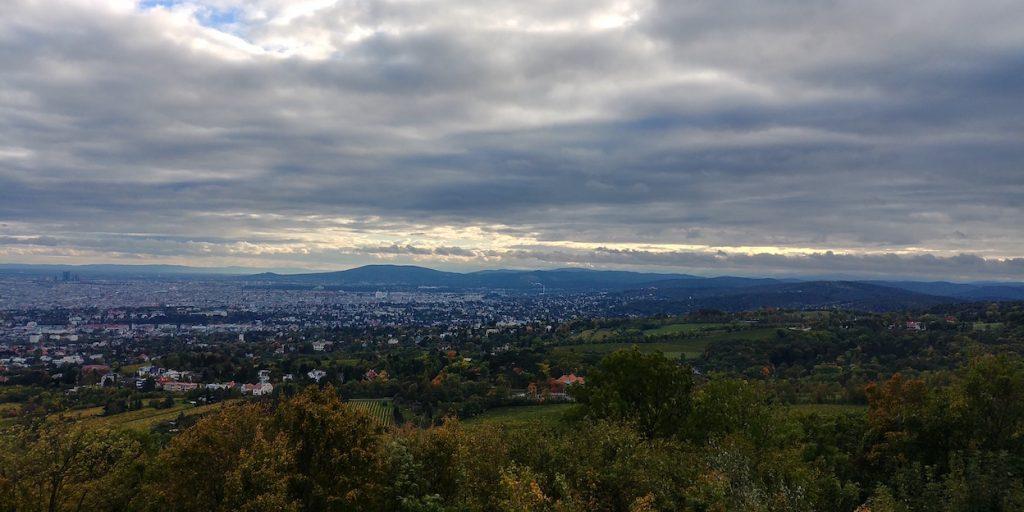 Widok na Wiedeń z Kahlembergu