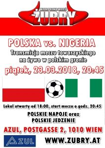 Transmisja meczu Polska vs. Nigeria @ AZUL BAR | Wien | Wien | Austria
