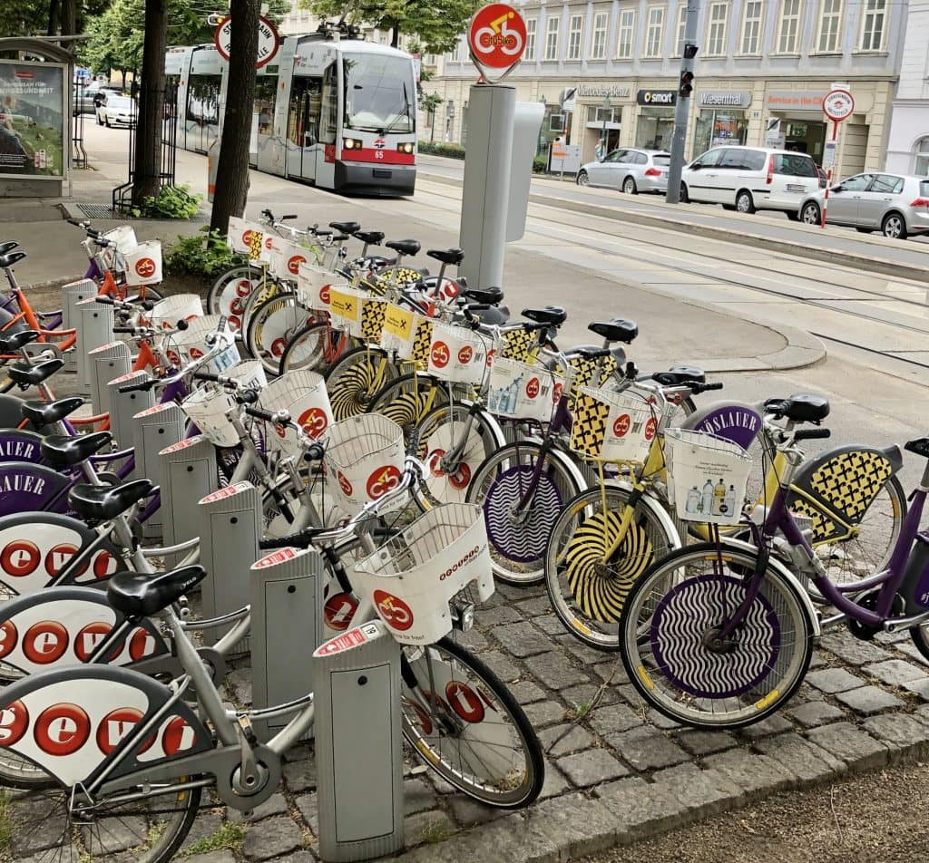 One of the Citybike stations in VIenna