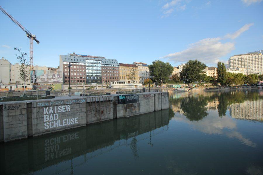 Schwimmende Gärten am DonaukanalSchwimmende Gärten am Donaukanal